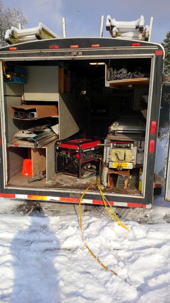 generator in eavestrough trailer