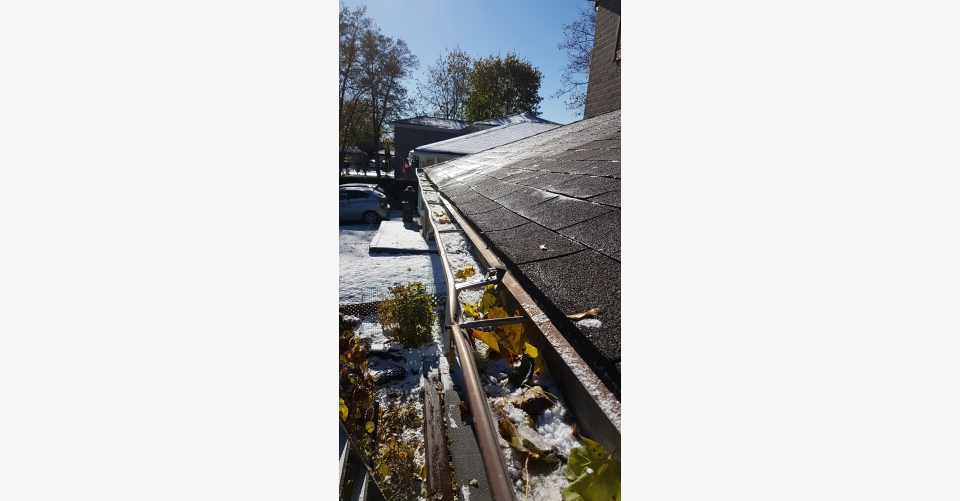 Old Eaves are dented, worn and clogged